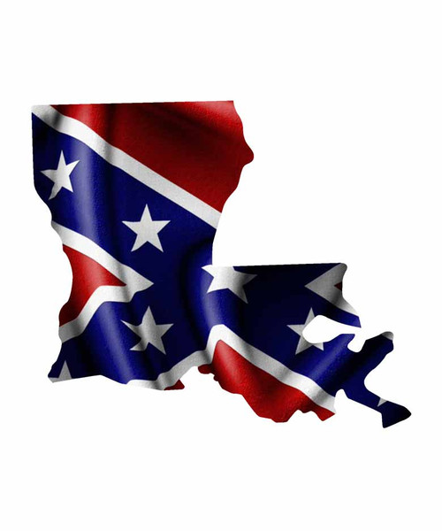 Louisiana Rebel Flag Sticker