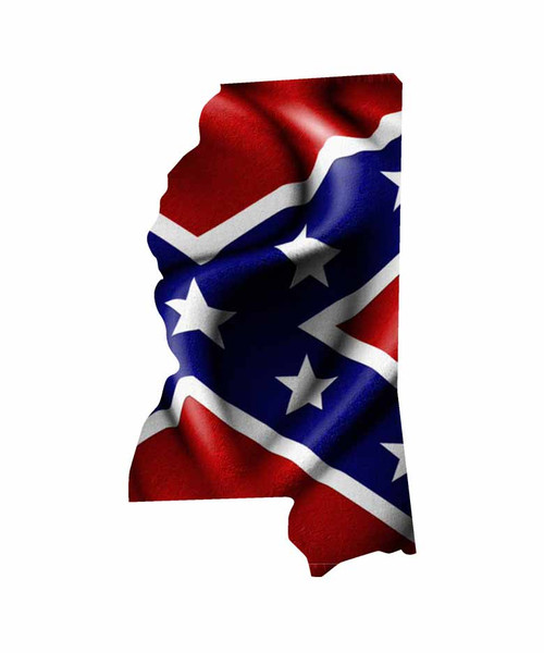 Mississippi Rebel Flag Sticker