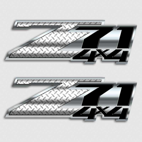 Diamond Plate Z71 4x4 Sticker Set