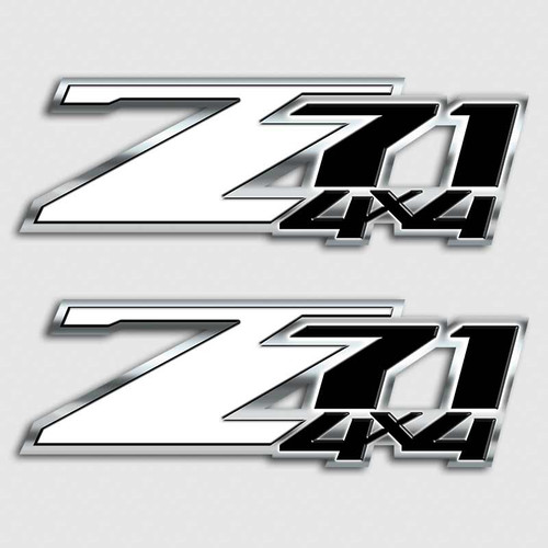 Z71 White and Black 4x4 Sticker Set