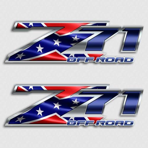 Z71 Rebel Flag Off Road Sticker Set