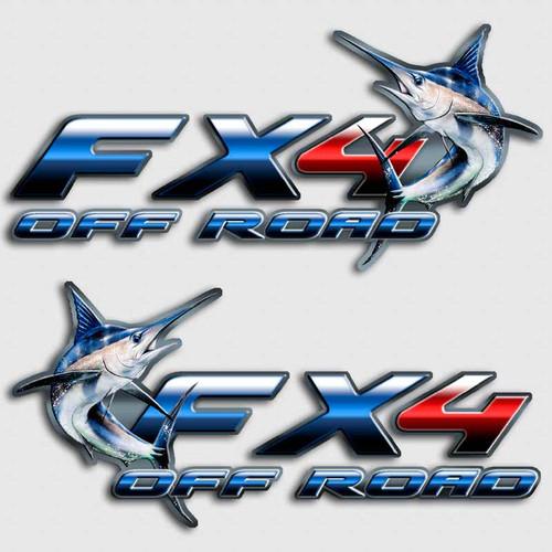 FX4 Marlin Sport Fishing Truck Decals