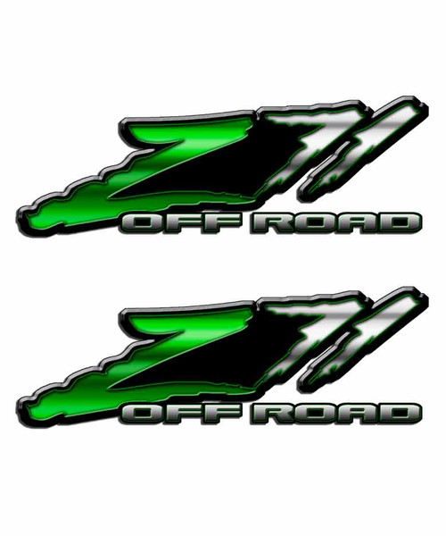 Z71 Green Slash Off Road Sticker Set
