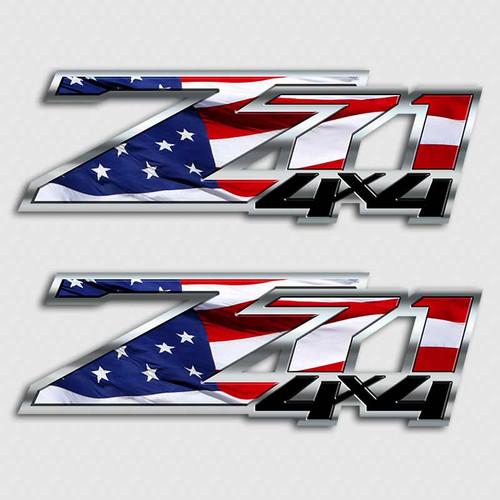 American Flag Z71 4x4 Sticker Set