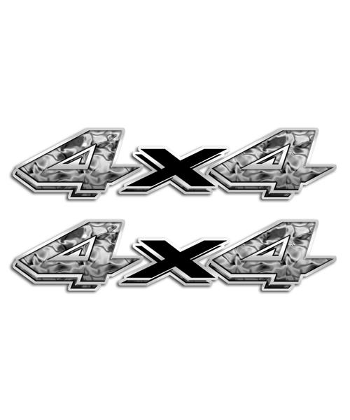 4x4 Liquid Metal Stickers