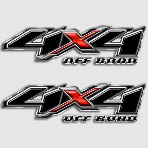 4x4 Black Red X Decals
