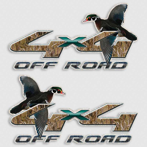 4x4 Wood Duck Ford F-250 Truck Decals