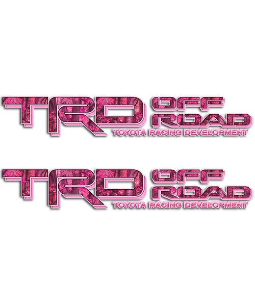 TRD Pink Camo Sticker Set
