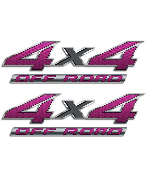 4x4 Pink Carbon Fiber Sticker Set