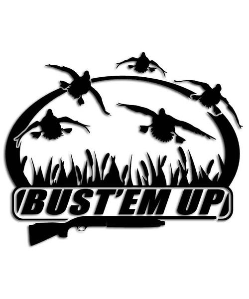 Bust' em Up Duck Sticker
