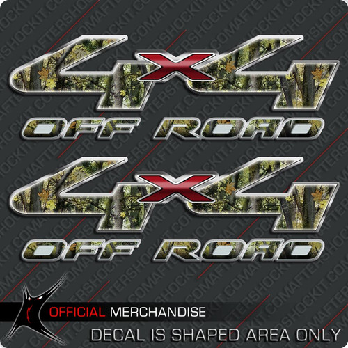 4x4 Shocker Camo Green Off Road Decals