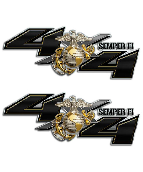 Marines 4x4 Semper Fi Sticker set