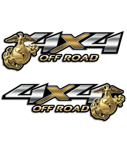 Marines 4x4 Off Road Sticker set