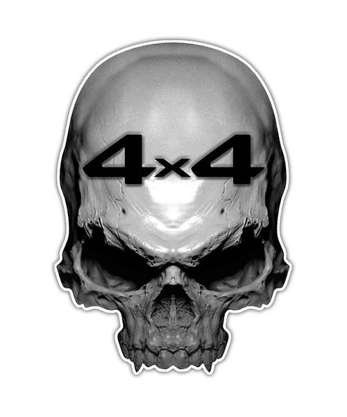 4x4 Skull Sticker