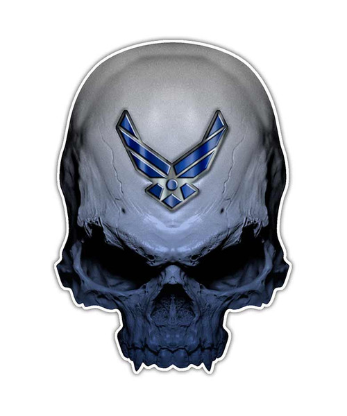 Air Force Skull Sticker