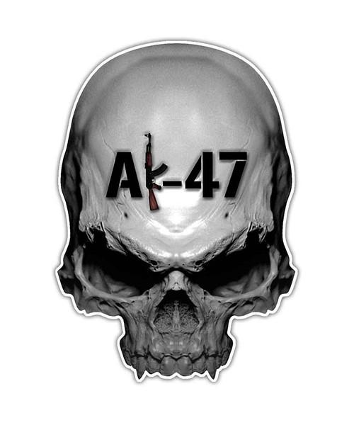 AK-47 Skull Sticker