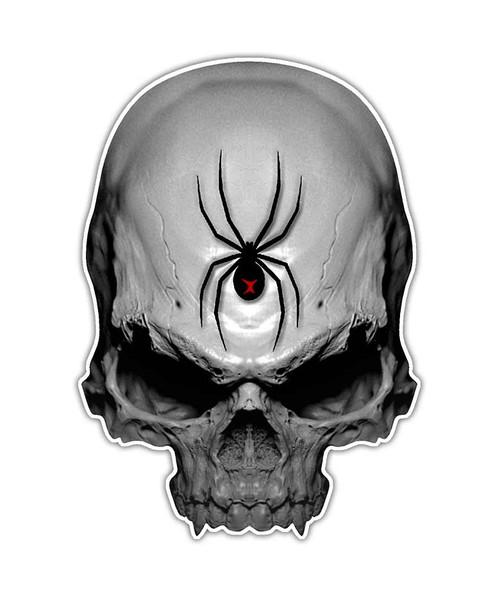Black Widow Spider Skull Sticker