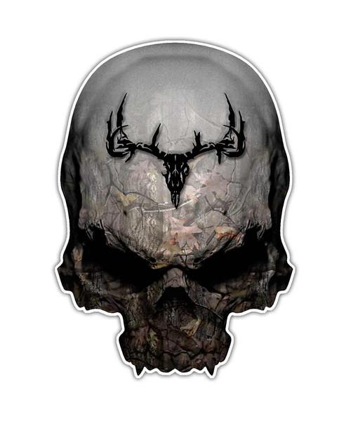 Camo Deer Skull Sticker