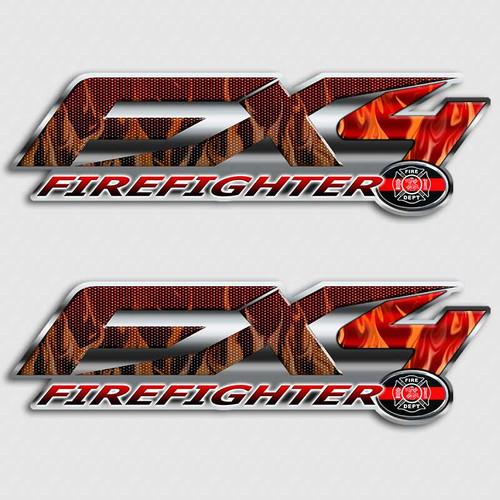 FX4 Firefighter Sticker set