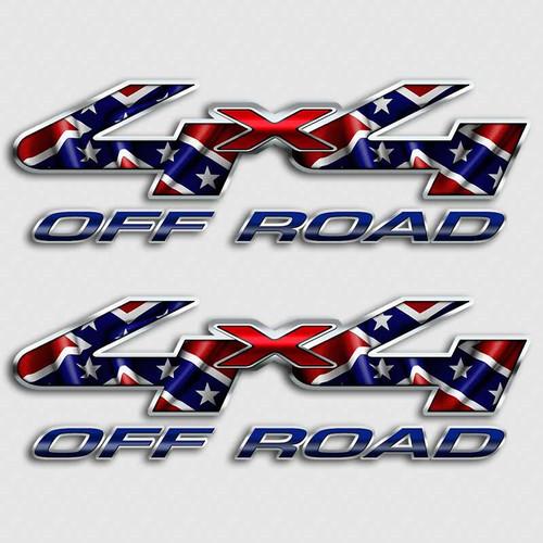 4x4 Confederate Flag Ford F-250 Rebel Truck Decals