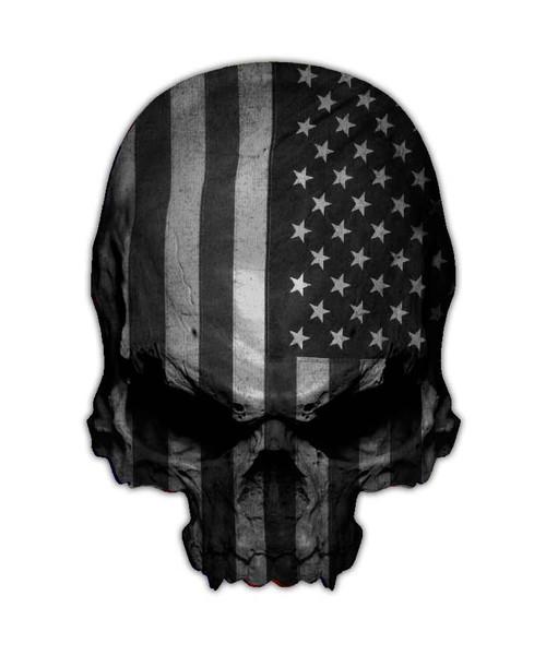 Subdued Flag Skull Sticker