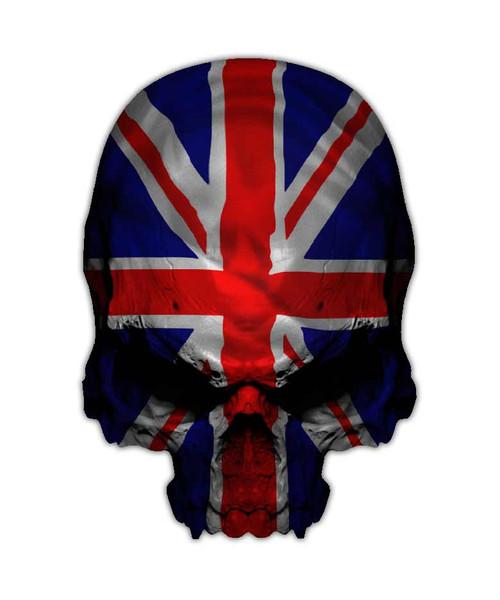 Union Jack Flag Skull Sticker