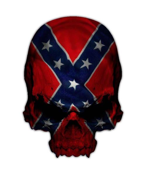 Confederate Flag Rebel Skull Sticker