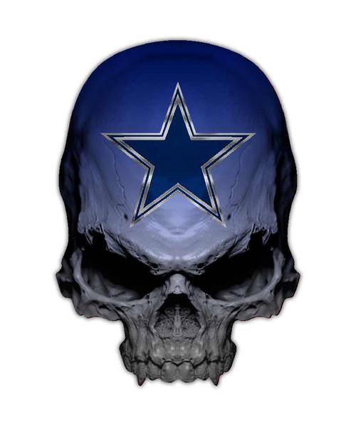 Dallas Cowboys Skull Sticker