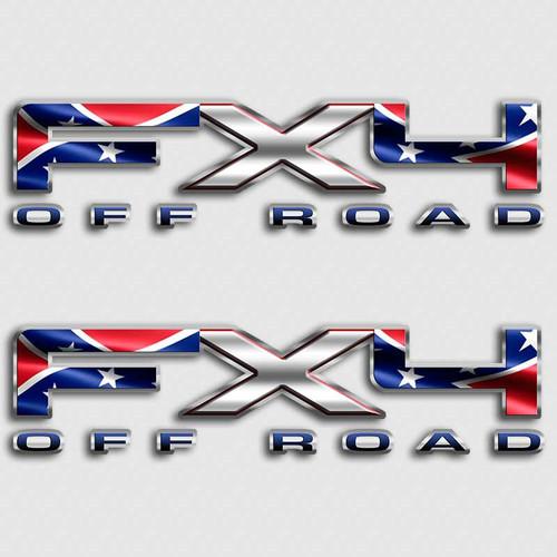 Rebel Flag FX4 Sticker set