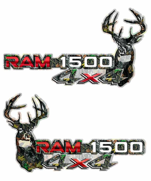 4x4 Red Ram 1500 Deer Camo Decals