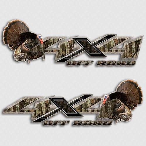 Silverado Turkey 4x4 Hunting Chevy Decals
