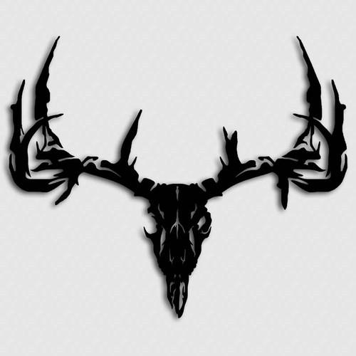 Whitetail Monster Deer Skull Decal