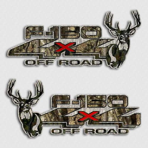 F-150 4x4 Camouflage Deer Decals