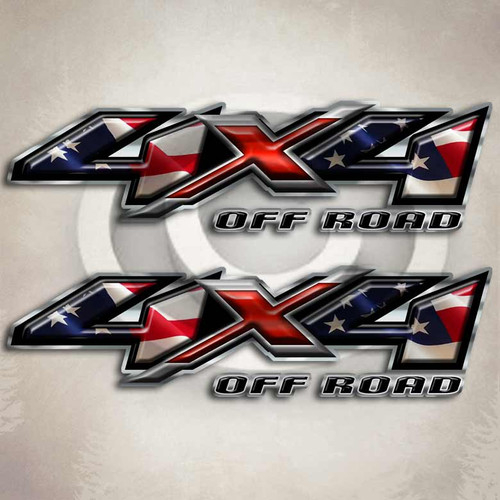 American Flag Off Road Truck Decals