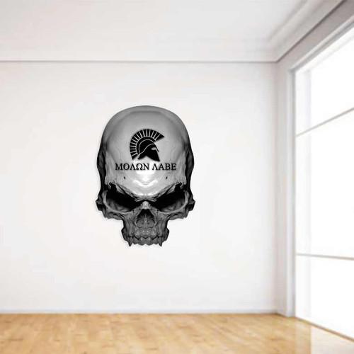 Molon Labe Skull Wall Decal