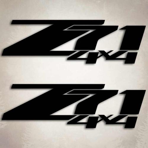 4x4 Z71 Silverado Truck Decal Set