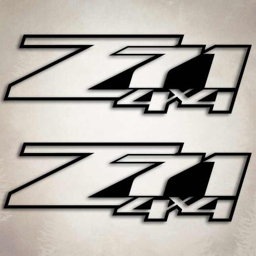 4x4 Z71 Silverado Outline Truck Decal Set
