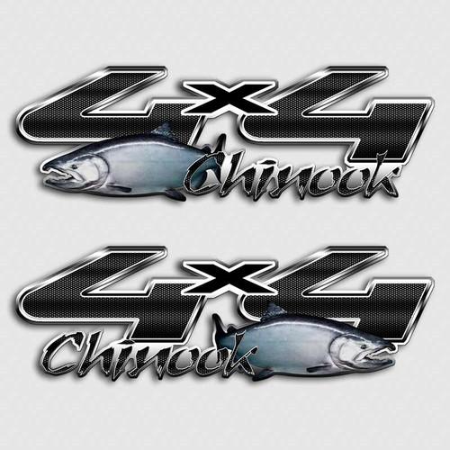 4x4 Chinook Fishing Alaskan Truck F-250 Decals