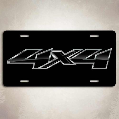 4x4 Black Chevy License Plate