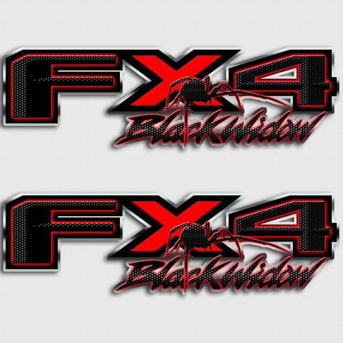 Black Widow FX4 Truck Decal Set