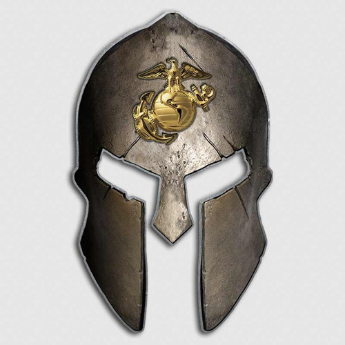USMC Marines Spartan Helmet Decal