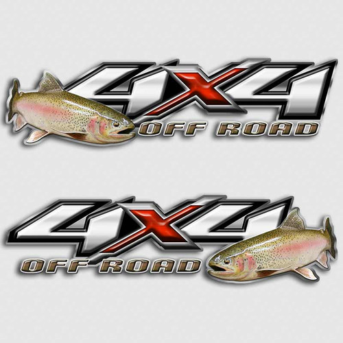 Rainbow Trout 4x4 Truck Decals