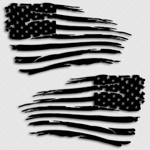 American Flag Military Battle Decal
