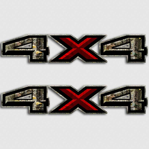 4x4 Ford F-150 Camouflage Red X Truck Decals