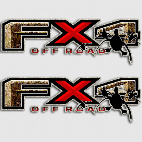 Duck Hunting FX4 Camouflage Truck Decals