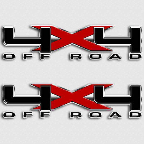 Black Red X F-150 Ford 4x4 Truck Decals
