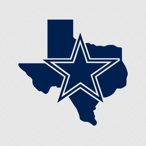 Dallas Cowboys Texas Football Tumbler Decal