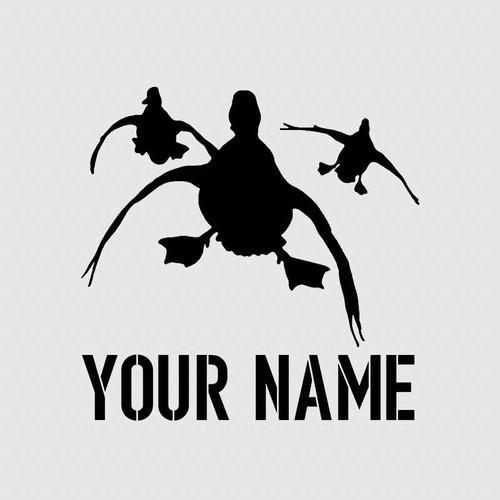Duck Hunting Custom Name Tumbler Decal