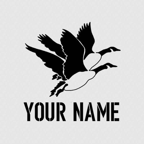 Goose Hunting Custom Name Tumbler Decal