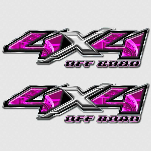 4x4 Electric Purple Silverado Off Road Truck Decals